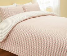 Multi coloured striped bedding