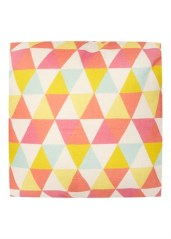 Geometric cushions are the perfect solution to refresh and brighten up and interior design scheme