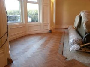 Mark Ward Floors - Colonia Schoolhouse Oak mid installation