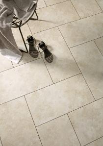 Herringbone Tiles (Polyflor Camaro Portico Limestone)