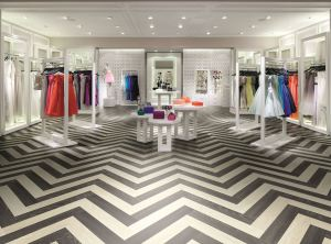 Black and White Herringbone (Polyflor Expona Design)
