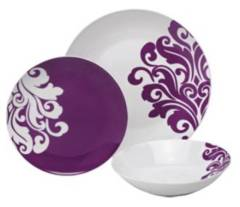 Porcelain Damask Dinner Set