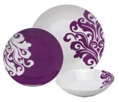 Porcelain Damask Dinner Set