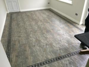 Barratt & Hughes Flooring Specialist - Camaro Ocean Slate (2319) with Greek Key Border 2