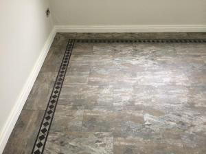 Barratt & Hughes Flooring Specialist - Camaro Ocean Slate (2319) with Greek Key Border