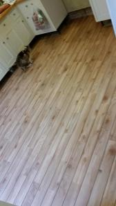 DW Flooring - Bespoke cut Camaro Waxed Pine (2206) with Brown Feature Strip (0031)