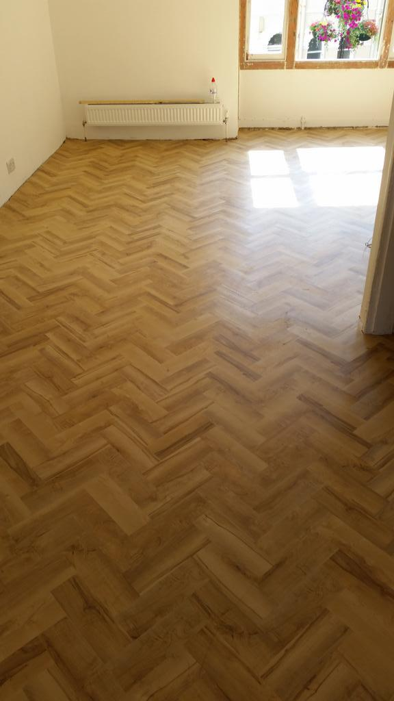 Herringbone Polyflor At Home