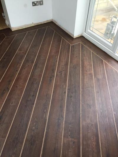 Emperor Flooring NE, Colonia Kings Oak 4437 with Walnut and Natural Oak Marquetry Strips