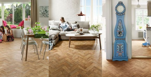 Laurel Oak Parquet 2136, English Oak Parquet 2137, Rich Oak Parquet 2138