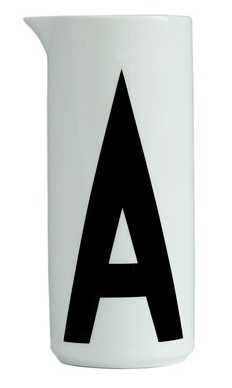 Design Letters Aqua Jug, £56 from Amara.com