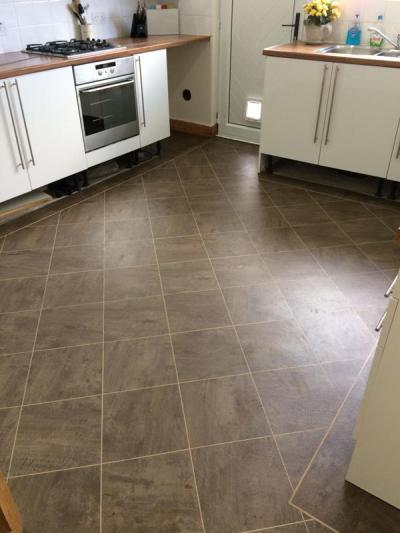 360 Degree Flooring, Colonia Quarried Millstone 4532 with Cream feature strips