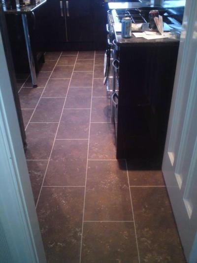 Abbey Flooring, Camaro Aged Metalstone 2338 with Pearl grouting strips
