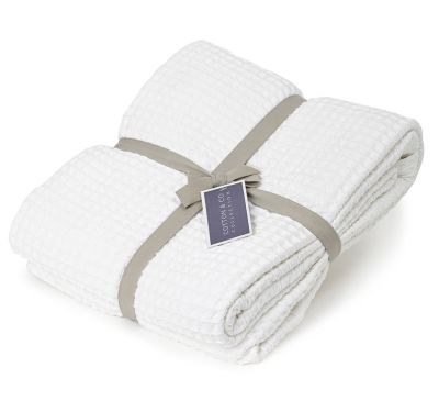 White Cotton & Co Waffle Blanket, £30 from BHS