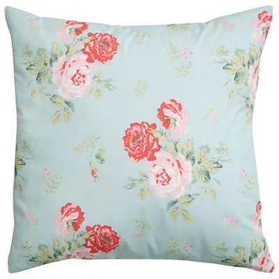 Cath Kidston Antique Rose Bouquet Cushion in Duck Egg, £30 from John Lewis