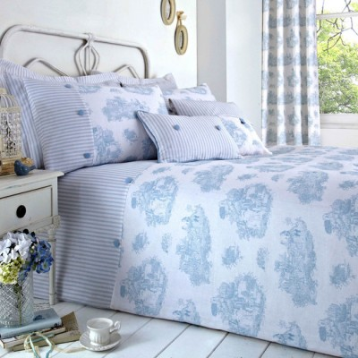 Blue Toile de Jouy Collection Duvet Cover Set from Dunelm Mill starting from £15.99