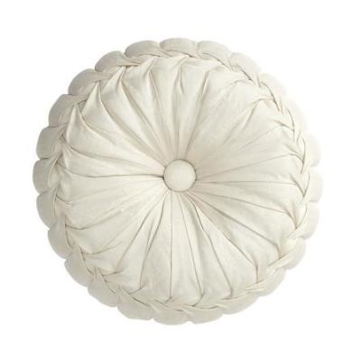 Faux Silk Smocked Round Cushion, £7.99 from Dunelm Mill
