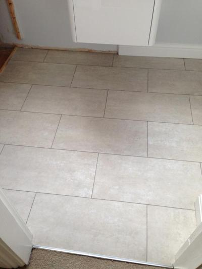 East Riding Floors, Camaro White Metalstone 2332 with Coffee grouting strips