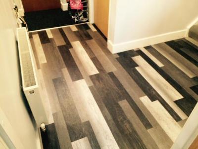 Barratt & Hughes, Expona Commercial Dark Recycled Wood 4067