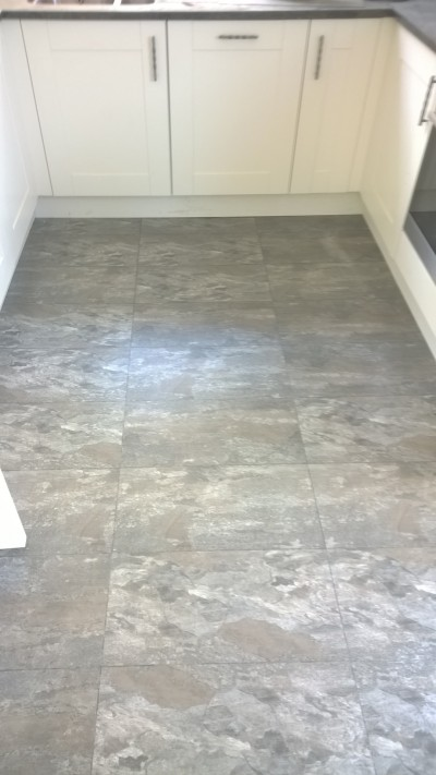 BL McAvoy Flooring, Camaro Ocean Slate with Graphite grouting strip