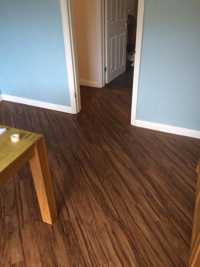 Flooring Emporium, Bevel Line French Nut Tree