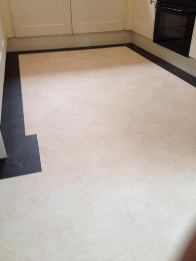 Quinton Flooring, Camaro Black Marble and White Metalstone