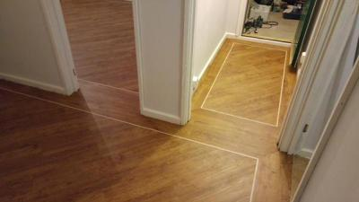 Bow Flooring, Camaro Vintage Timber with Cream feature strip