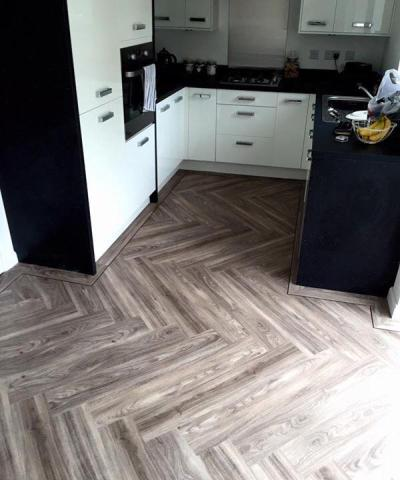 Emperor Flooring North East, Expona Design Light Elm in herringbone pattern