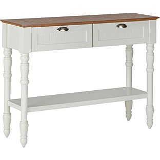 Addington 2 Drawer 1 Shelf Two Tone Console Table from Argos, £99