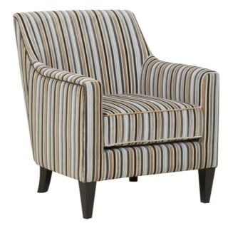 Global Furniture Alliance Bloomsbury Fabric Accent Chair in Silver Stripe, £189.97