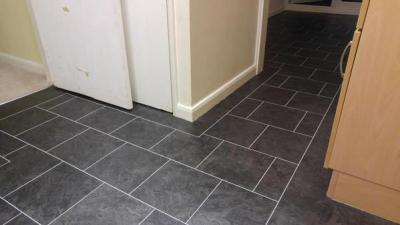 Bow Flooring, Camaro Black Oilshale with Ice Grouting Strip