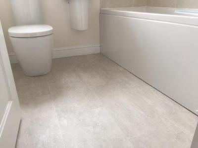 JD Flooring, Camaro White Metalstone with Ice Grouting Strip