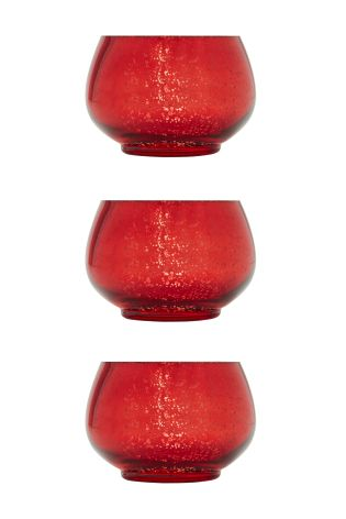 Set of 3 bubble glass tea light holders, £12 from Next