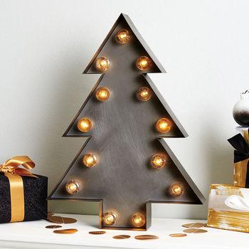 Christmas Tree Marquee Light, £40, Notonthehighstreet.com