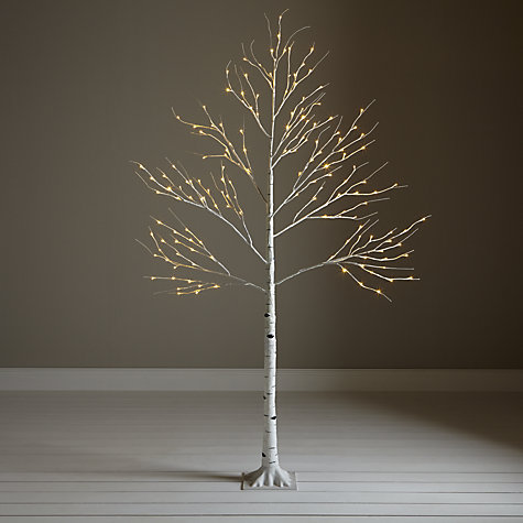 Pre-Lit Paper Birch Christmas Tree, £80, John Lewis