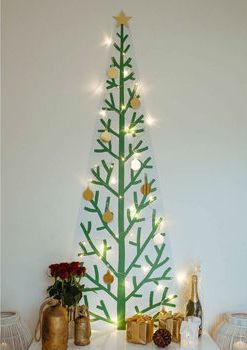 Classic Removable Reusable Wallpaper Christmas Tree Kit, £70, Notonthehighstreet.com