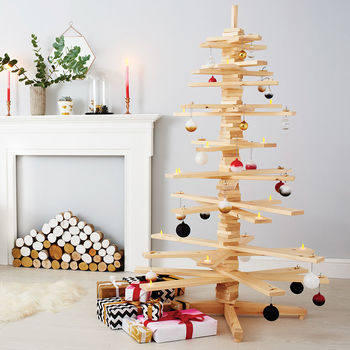 Alternative Wooden Christmas Tree, £139, Notonthehighstreet.com