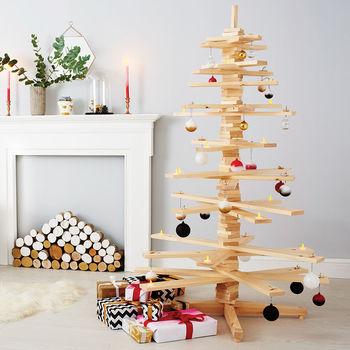 Alternative Wooden Christmas Tree, £139, Notonthehighstreet.com
