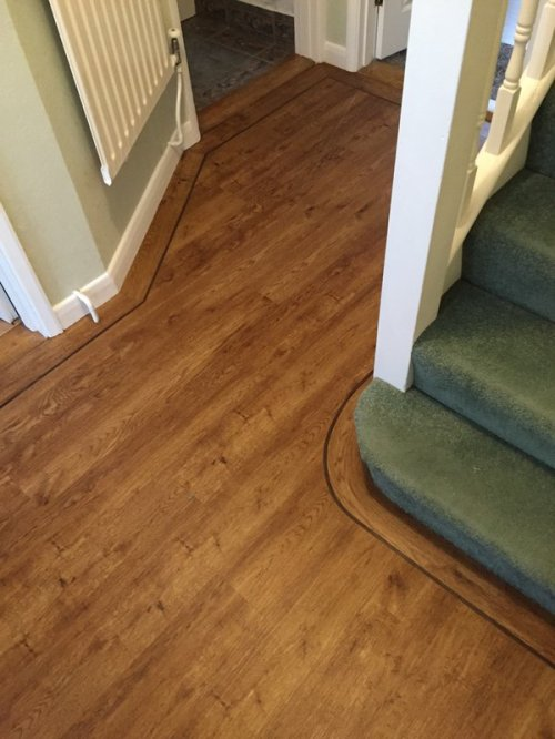 Dan Evans Flooring, Camaro Vintage Timber with Brown feature strip