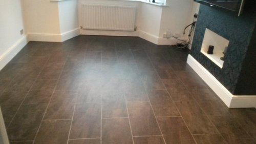 Downie Flooring, Colonia Quarried Millstone with Pearl grouting strip