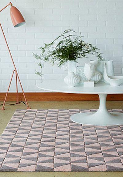 Debenhams pink and grey wool 'Geometric' rug, £190.00 - £315.00