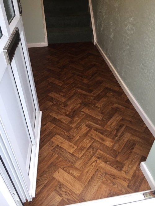 SL Design Floor, Designatex Rich Oak Parquet