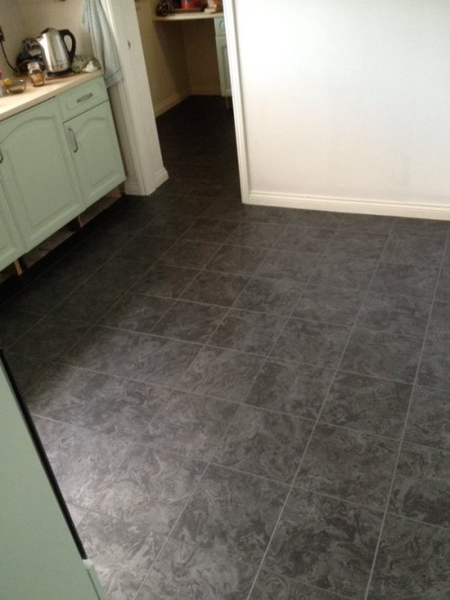 MJC Flooring, Camaro Black Oilshale with Grey grouting strip