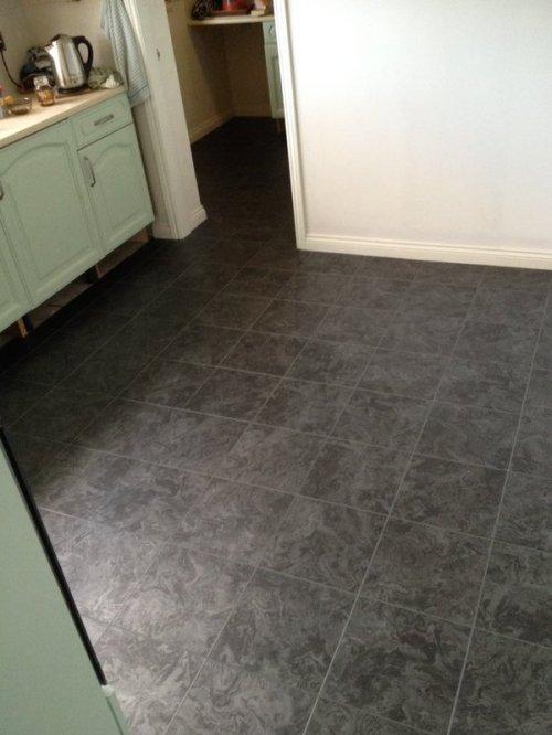 MJC Flooring, Camaro Black Oilshale with Grey grouting strip