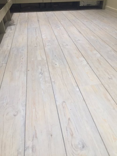 RT Floors, Camaro White Limed Oak with Silver feature strip