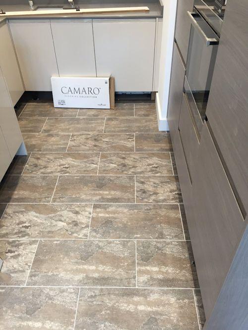Design Flooring SW, Camaro Ocean Slate with Ice grouting strip