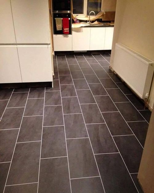 Flawless Flooring North East, Colonia Welsh Raven Slate with Ice grouting strip