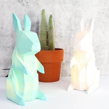 Nordikka Origami Rabbit Lamp by Lisa Angel Homeware and Gifts, Notonthehighstreet.com, £36.00