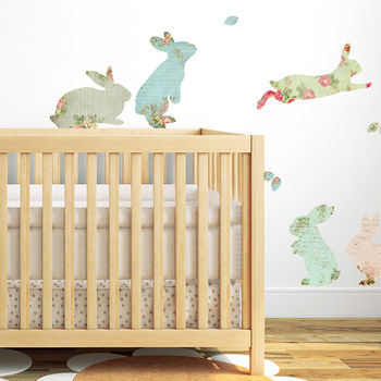 Fabric Rabbit Wall Stickers by Spin Collective, Notonthehighstreet.com, £28.00