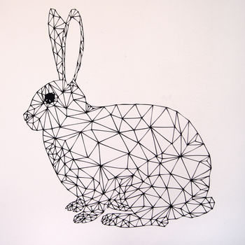 Geometric Rabbit Wall Stickers by Parkins Interiors, Notonthehighstreet.com £20