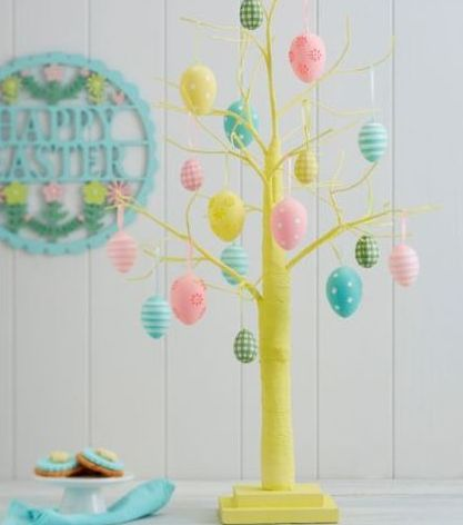 Yellow Easter Tree, Tesco, £25.00 (decorations sold separately)